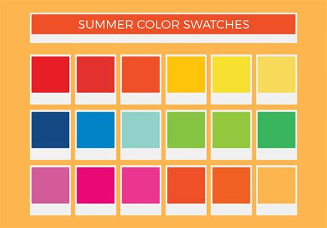 Free Summer Vector Color Swatches - Download Free Vector