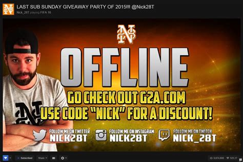 """Nick on Twitter: """"Sub Sunday Giveaway Party starting soon"""