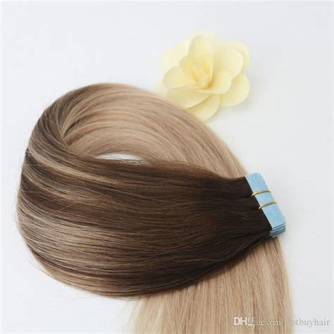 Easy To Dye African American Human Tape Hair Extensions