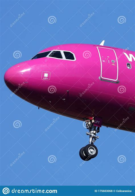 Passenger With Coronavirus Protection Mask In A Wizzair