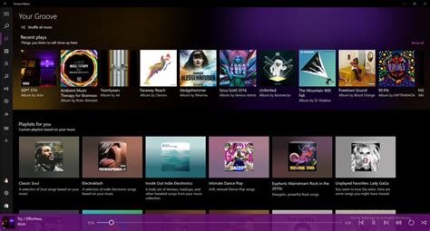 Groove Music App Updated For Windows Insiders With Visual