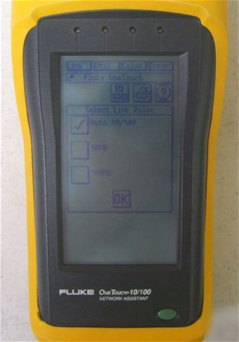 Fluke onetouch 10/100 network assistant cable test