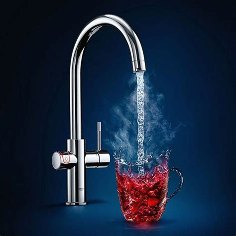 Grohe Red Duo II Boiling Water Kitchen Mixer Tap with C