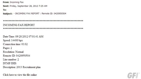 Beware: Fake Fax Email Notifications in Circulation