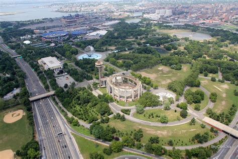 Flushing Meadows Park Queens NY | Remote Aerial
