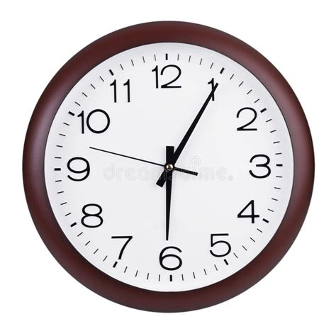 Five Minutes Past Six On A Dial Stock Photo - Image of