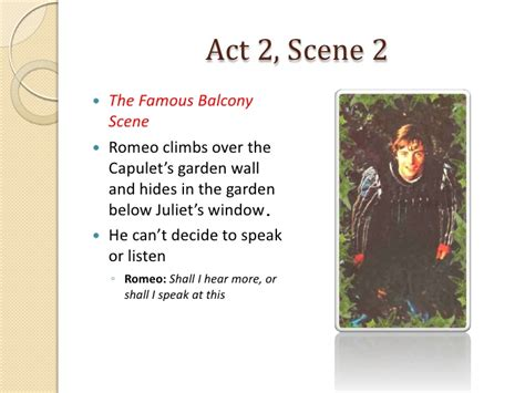 Romeo and Juliet Act 2, Scenes 1-2 Notes