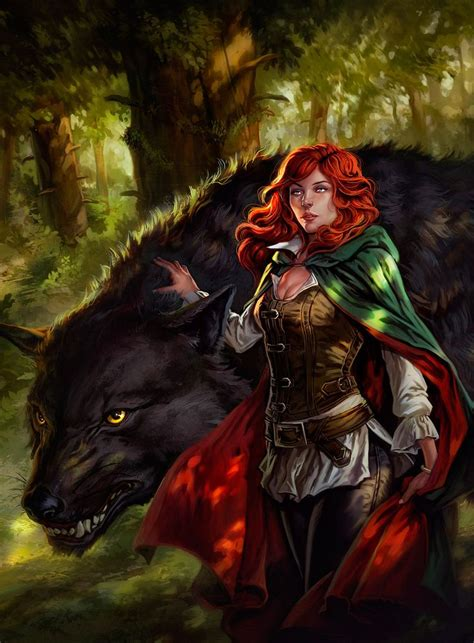 The Great Hunt - 2 by dleoblack redhead female druid