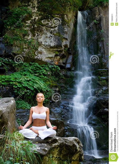 Yoga In The Nature Stock Image - Image: 10869611