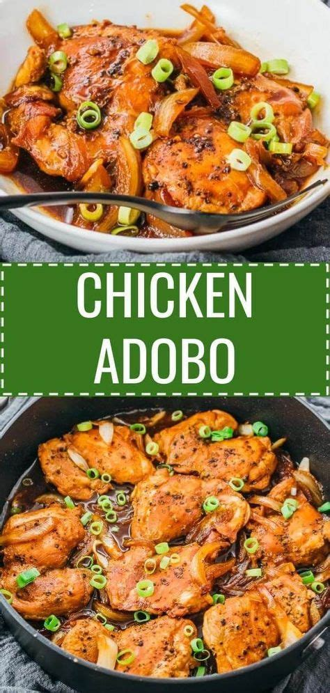 Best traditional filipino chicken adobo! This easy dinner