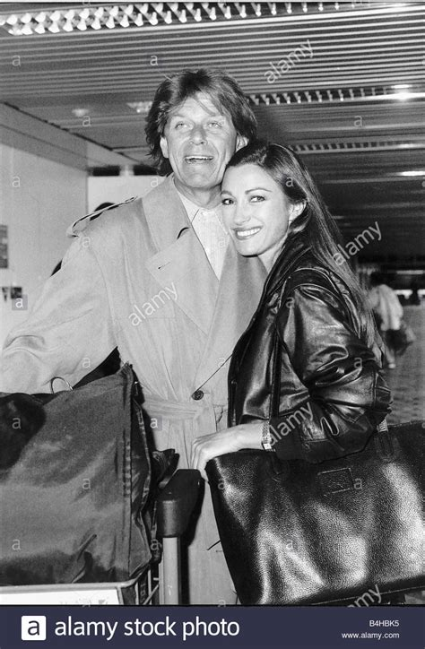 Peter Cetera with girlfriend Jane Seymour actress leaving