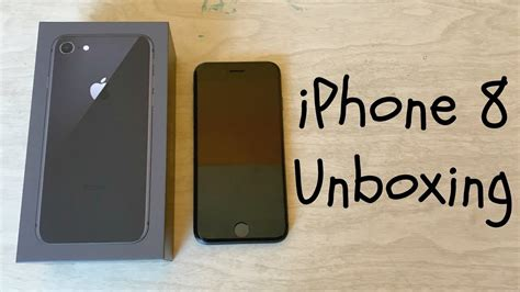 iPhone 8 256gb Space Gray Unboxing - YouTube